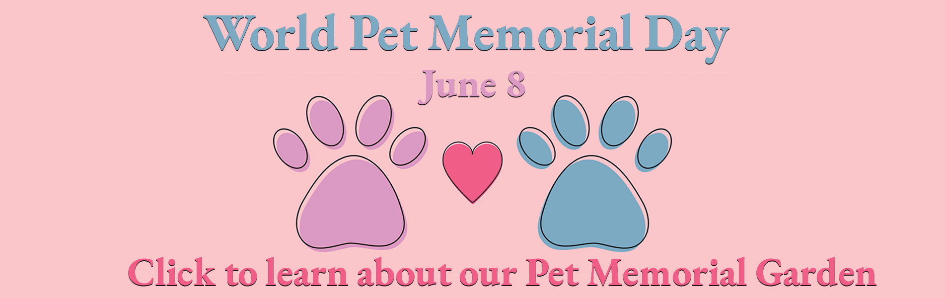 June 8 is world pet memorial day. Click to learn about our Pet Memorial Garden