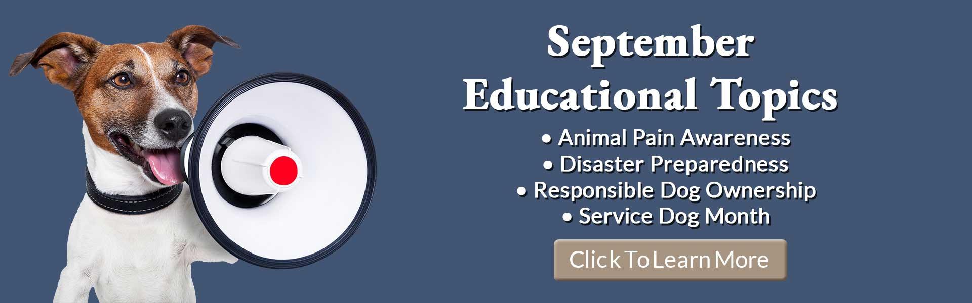 September Pet Education